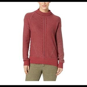 Prana NWT Red pullover Sentiment Sweater Size M